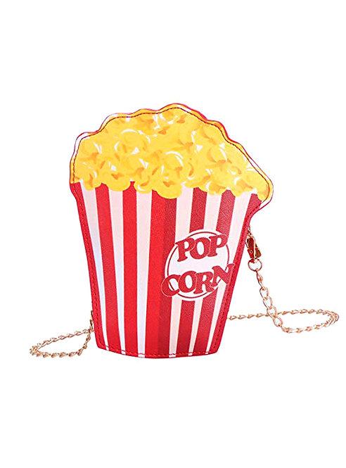 Kitsch Retro Popcorn Chain Handle Bag