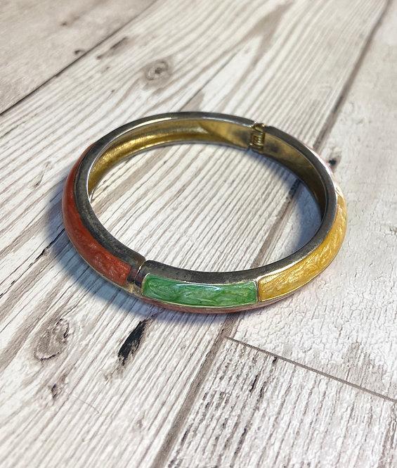 1960s Vintage Enamelled Bangle Bracelet