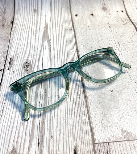 Vintage Light Green Toned Glasses/Spectacles Retro Frames