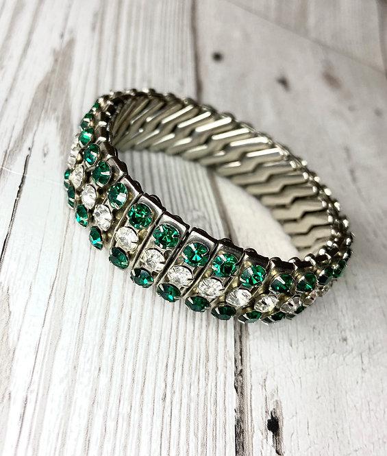 1950s Vintage Rhinestone Expansion Bracelet