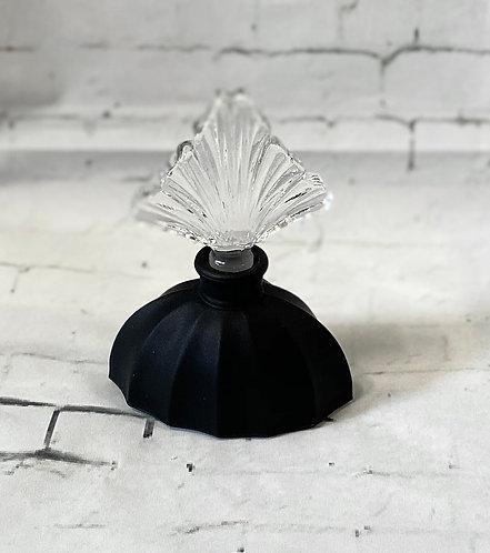 Vintage Black Art Deco Style Perfume Bottle