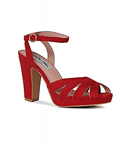 Retro Red Strappy Heels