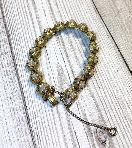 Vintage Mode-Art Faux Seed Pearl Bracelet