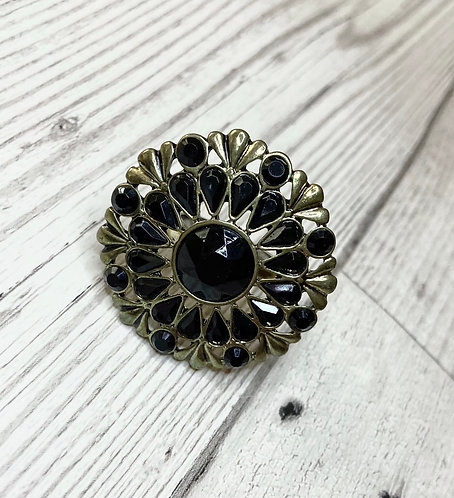 Vintage Black Stone Cocktail Ring