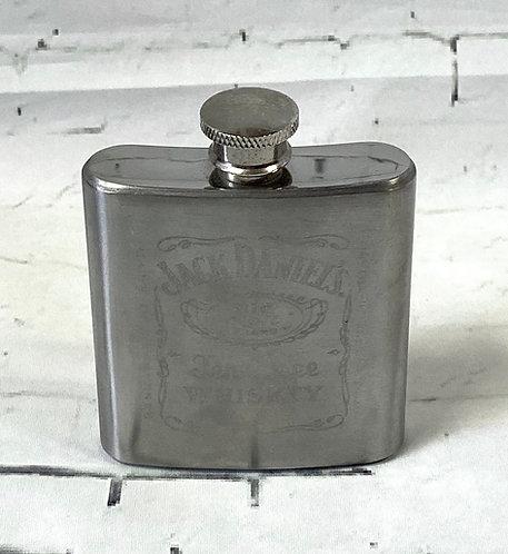 Retro Jack Daniels Stainless Steel Hip Flask