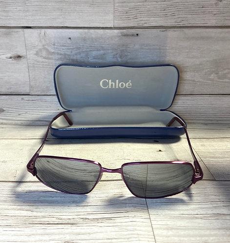 Vintage Chloé Purple Rectangular Designer Sunglasses