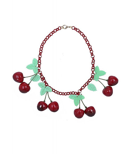 Chunky Cherries Statement Necklace