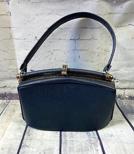 1950s Vintage Navy Box Handbag