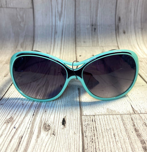 Vintage Deadstock Green Beaded Oversize Sunglasses