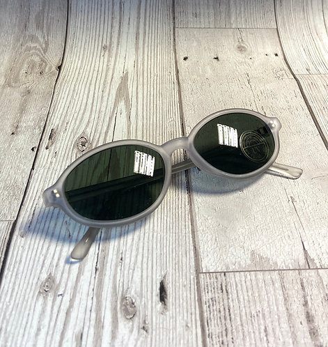 Vintage Deadstock Grey Frosted Sunglasses