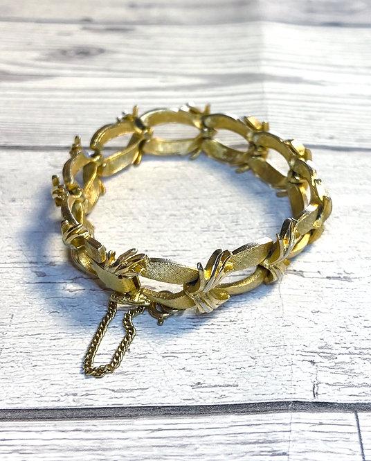 Vintage Corocraft Brushed Goldtone Bracelet