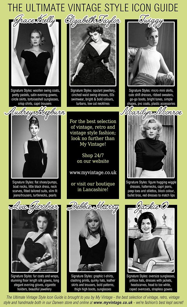 the-ultimate-vintage-style-icon-guide | Vintage Style | Vintage Fashion