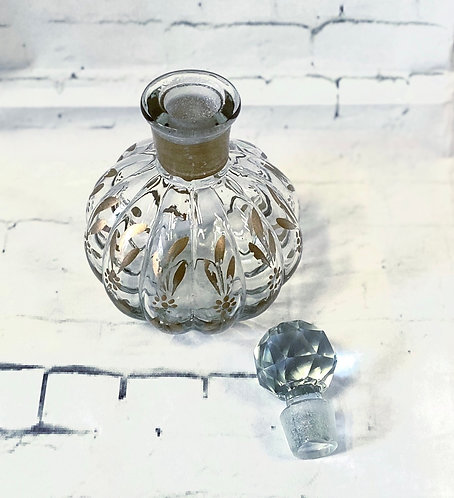 Vintage Hand Painted Glass Perfume Bottle
