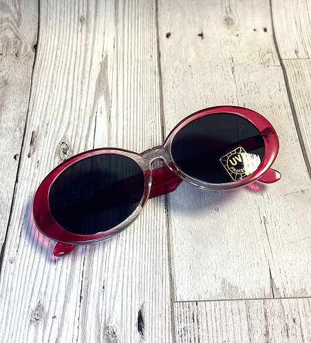 Vintage Deadstock Chunky Pink Sunglasses
