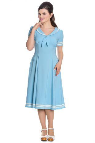Vintage Style Pastel Blue Sailor Tea Dress