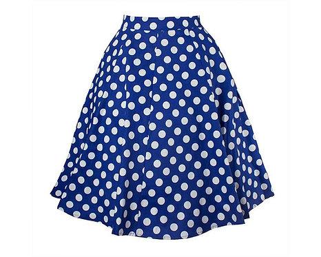 50s Style Red Polka Dot Swing Skirt