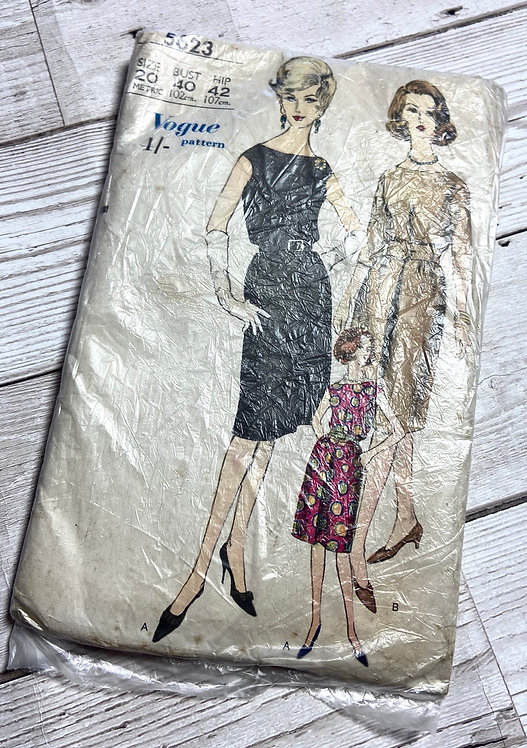 1960s Vintage Vogue 5623 Sewing Pattern