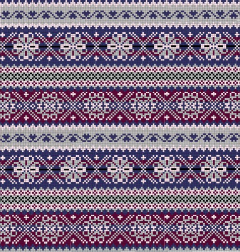 Fair Isle | Vintage Fabric | Fashion Blog