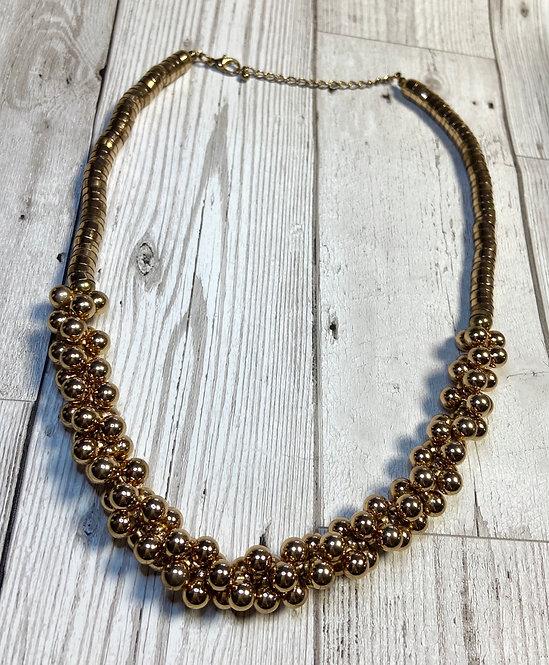 Vintage Gold Ball Cluster Necklace