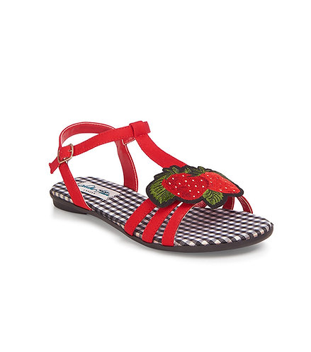 Cute Retro Strawberry Sandals