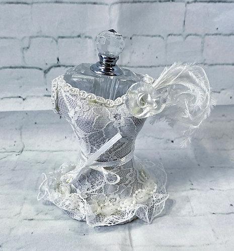 Beautiful Vintage Lace Mannequin Perfume Bottle
