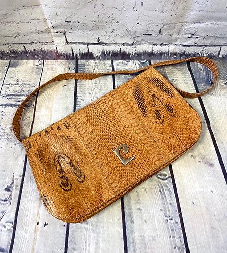 1970s Vintage Real Snakeskin Handbag/Clutch