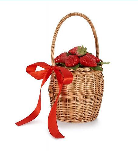 Retro Strawberry Basket Bag