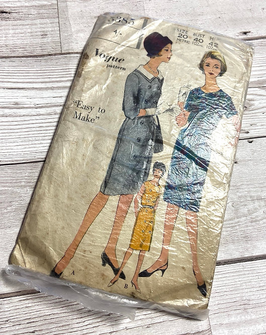 1960s Vintage Vogue 5385 Sewing Pattern