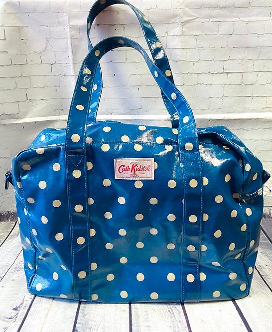 Cath Kidston Large Blue Polka Dot Oilcloth Bag