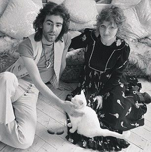 Ossie Clark and Celia Birtwell with their cat, Percy