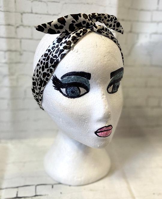 Retro Rockabilly Wired Headscarf - Animal Print