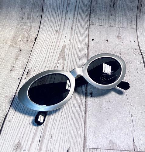 Vintage Deadstock Silver Catseye Sunglasses
