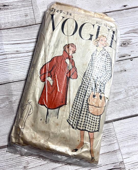 1950s Vintage Vogue 9149 Sewing Pattern