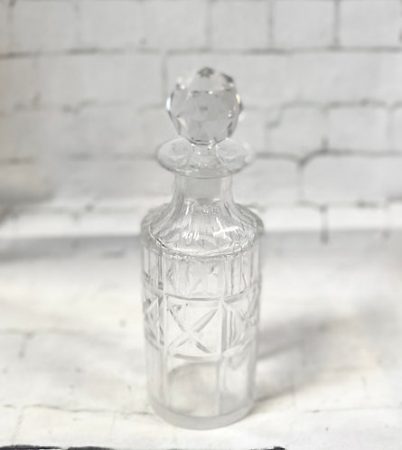 Traditional Vintage Cut Glass Perfume Bottle
