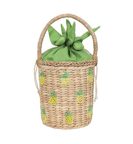 Retro Pineapple Basket Bag