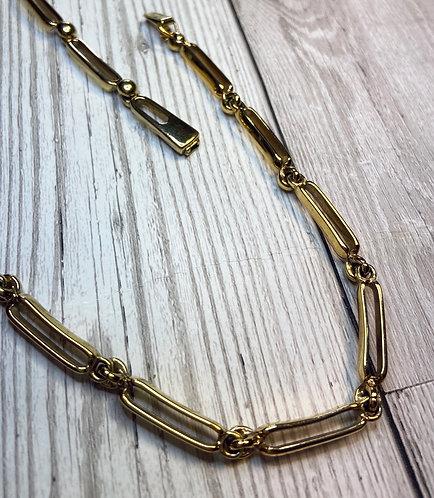 1980s Vintage Attwood & Sawyer Gilt Necklace