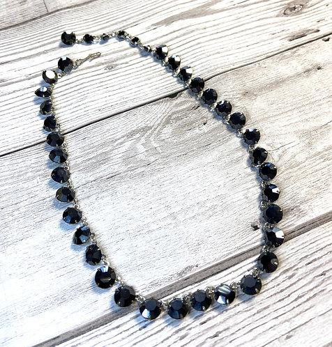 1950s Vintage Black Stone Choker Necklace