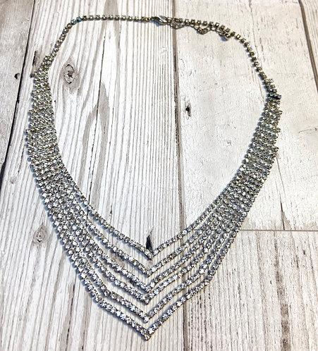 1950s Vintage Inspired Diamanté Necklace