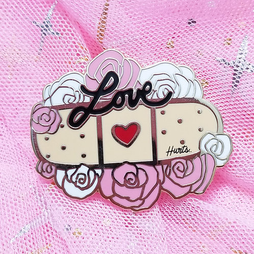 Love Hurts Enamel Pin