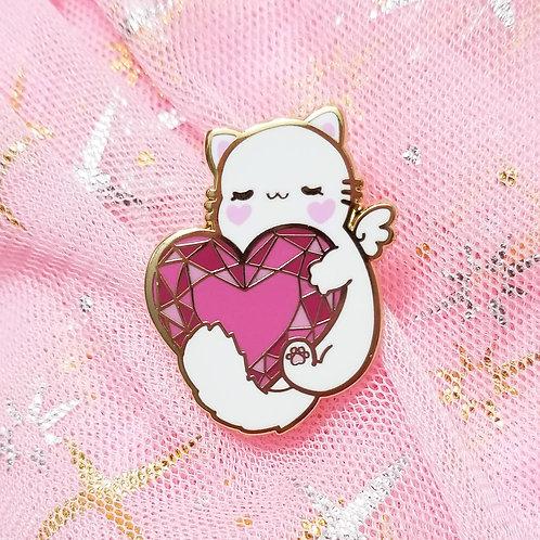 Jewel Heart Kitten | Enamel Pin
