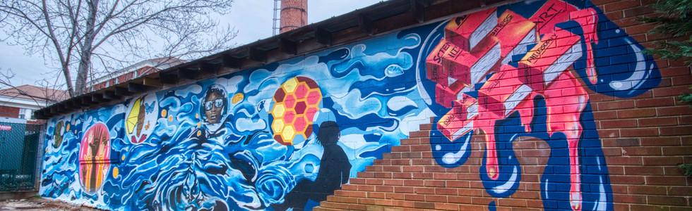 Queens University Community Mural Detail