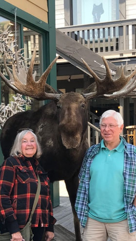 Dennis and Donna Sharp, owners of Moose Crossing, Shokan, NY.