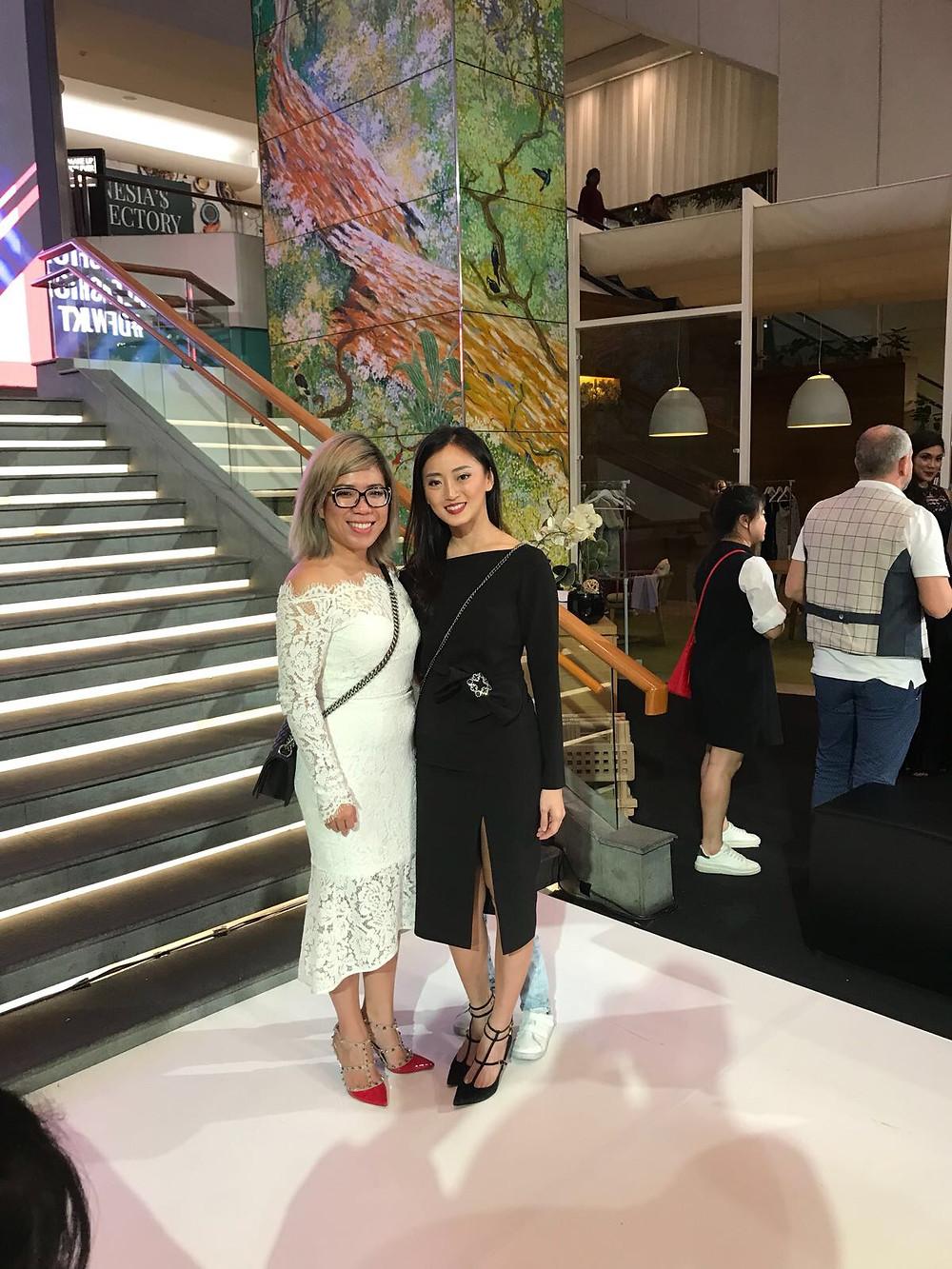 Betty Tran and Charina (wearing Betty Tran)