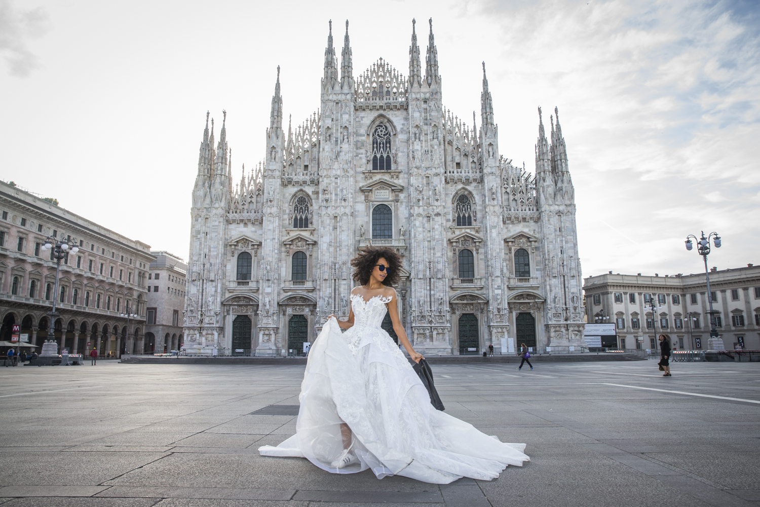 Empress Dress at Duomo Milano, Italy