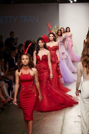 Indiginous students on the New York Fashion Week Runway
