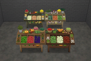 Produce Stand Yard Sale Tables