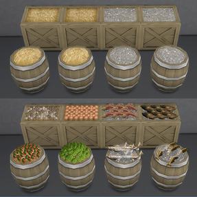 Stockable Crates & Barrel