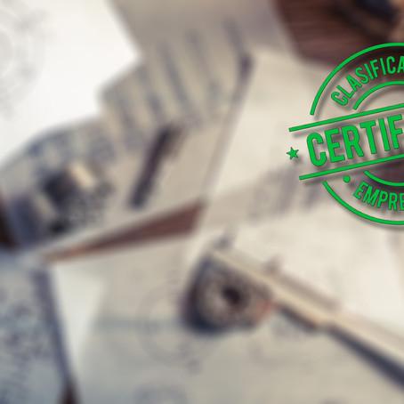 Nergy obtiene los Certificados de Clasificación Empresarial