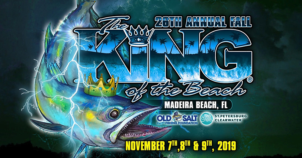 Advertisement King of the Beach fishing tournament November 7,8 & 9, 2019