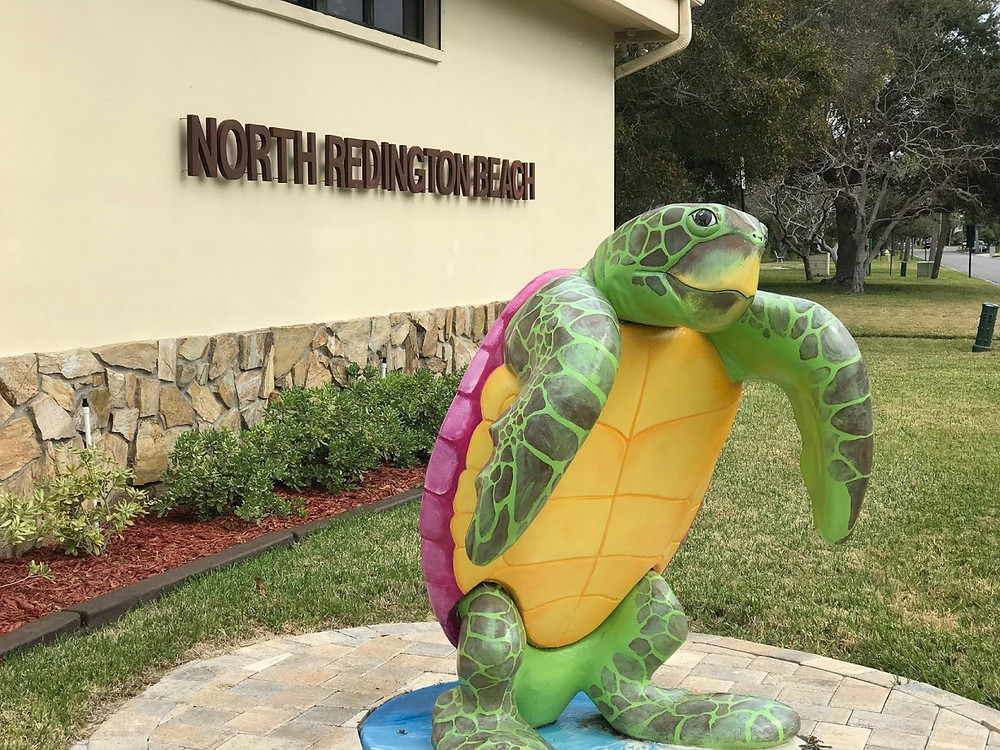 Photo of Painted Sea Turtle outside North Redington Beach Town Hall